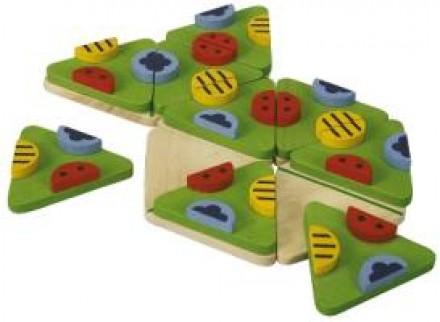 Trimino Böcek Puzzle